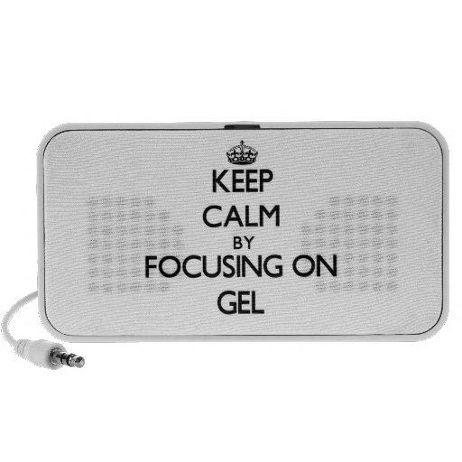 Keep Calm by focusing on Gel Travel Speakers