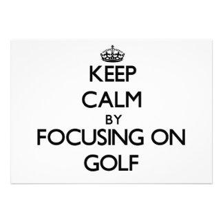 Keep Calm by focusing on Golf Card