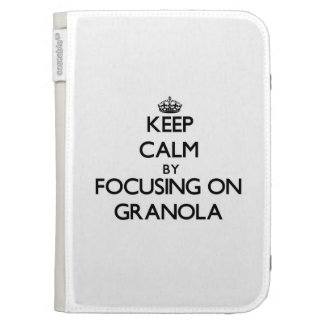Keep Calm by focusing on Granola Kindle 3 Case