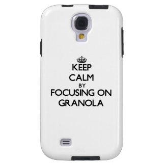 Keep Calm by focusing on Granola Galaxy S4 Case