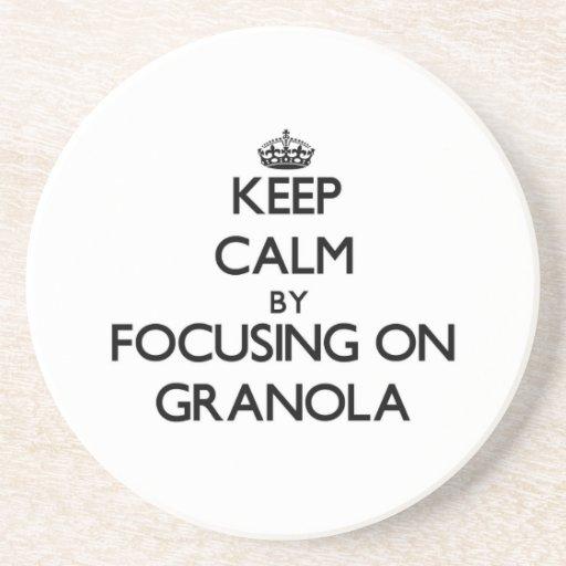 Keep Calm by focusing on Granola Coaster