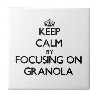 Keep Calm by focusing on Granola Ceramic Tiles