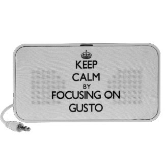 Keep Calm by focusing on Gusto Portable Speakers
