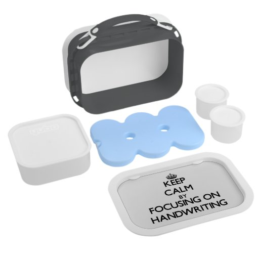 Keep Calm by focusing on Handwriting Yubo Lunch Boxes