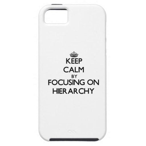 Keep Calm by focusing on Hierarchy iPhone 5/5S Case
