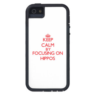Keep calm by focusing on Hippos iPhone 5 Covers
