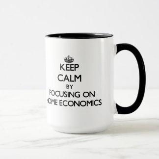 Keep Calm by focusing on Home Economics Mug