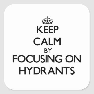 Keep Calm by focusing on Hydrants Stickers