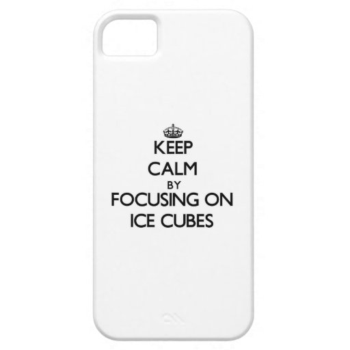 Keep Calm by focusing on Ice Cubes Cover For iPhone 5/5S