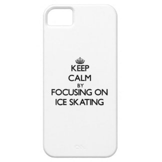Keep Calm by focusing on Ice Skating iPhone 5 Case