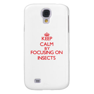 Keep calm by focusing on Insects Samsung Galaxy S4 Cover