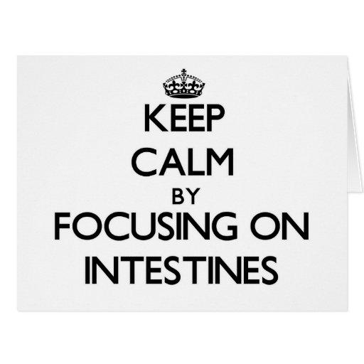 Keep Calm by focusing on Intestines Card