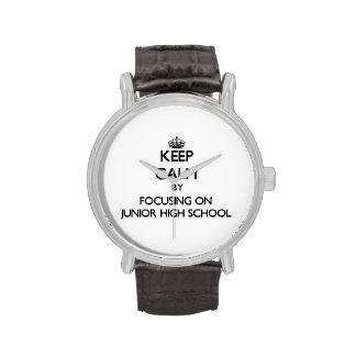 Keep Calm by focusing on Junior High School Wristwatches