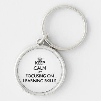 Keep calm by focusing on Learning Skills Keychain