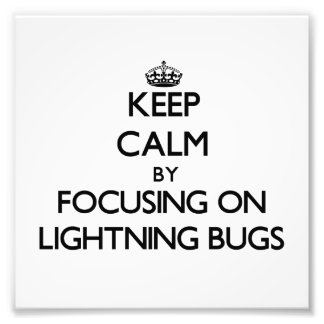 Keep Calm by focusing on Lightning Bugs Photo