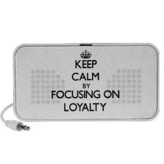 Keep Calm by focusing on Loyalty Notebook Speakers