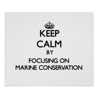 Keep calm by focusing on Marine Conservation Poster