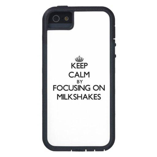 Keep Calm by focusing on Milkshakes iPhone 5 Cases