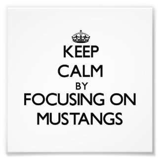 Keep Calm by focusing on Mustangs Photo Print