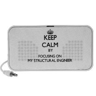 Keep Calm by focusing on My Structural Engineer iPod Speakers