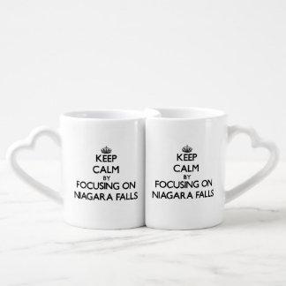 Keep Calm by focusing on Niagara Falls Coffee Mug Set
