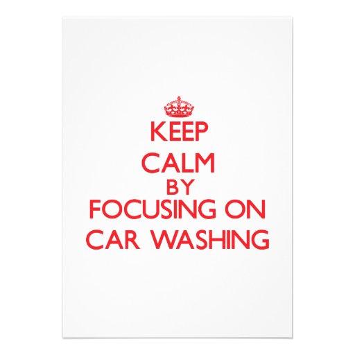 Keep calm by focusing on on Car Washing Card