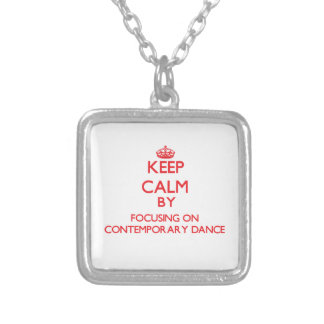 Keep calm by focusing on on Contemporary Dance Necklace