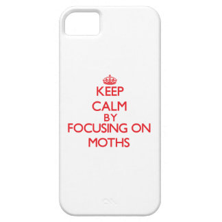 Keep calm by focusing on on Moths iPhone 5 Cover