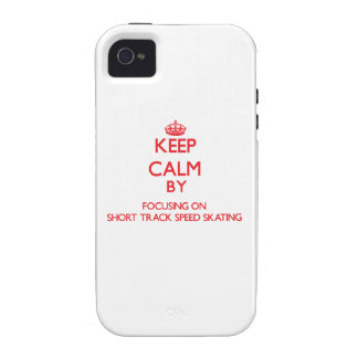 Keep calm by focusing on on Short Track Speed Skat Case-Mate iPhone 4 Case