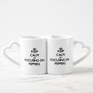Keep Calm by focusing on Peppers Lovers Mug Sets