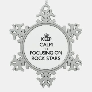 Keep Calm by focusing on Rock Stars Ornament