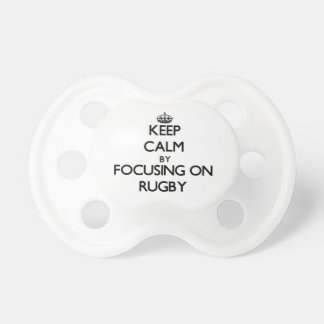 Keep Calm by focusing on Rugby Baby Pacifiers