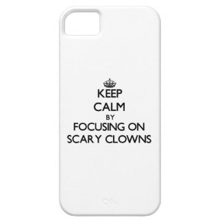 Keep Calm by focusing on Scary Clowns iPhone 5 Cover