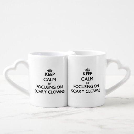 Keep Calm by focusing on Scary Clowns Couples Mug