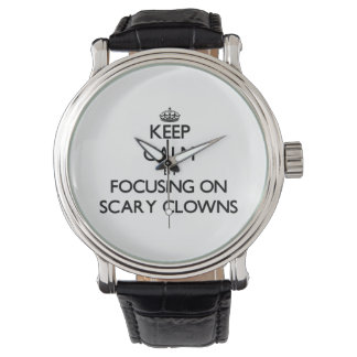Keep Calm by focusing on Scary Clowns Wristwatches