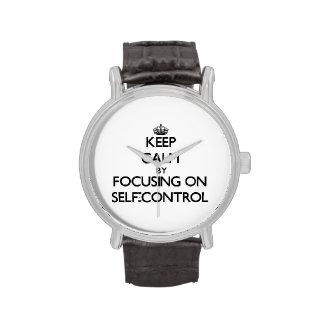 Keep Calm by focusing on Self-Control Wrist Watch