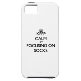 Keep Calm by focusing on Socks iPhone 5 Cases