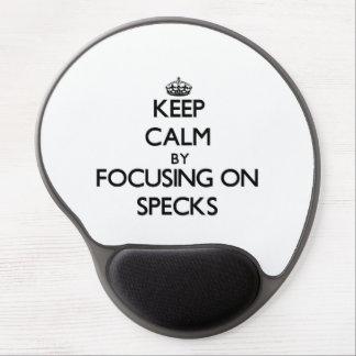 Keep Calm by focusing on Specks Gel Mouse Mat