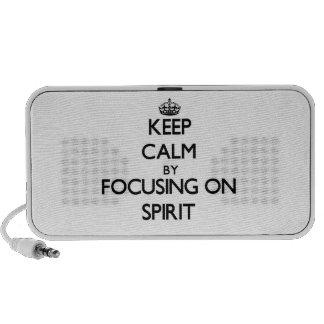 Keep Calm by focusing on Spirit iPhone Speaker