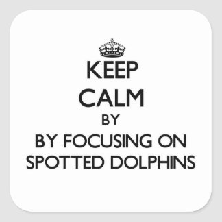 Keep calm by focusing on Spotted Dolphins Stickers