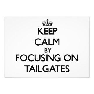 Keep Calm by focusing on Tailgates Custom Invitations