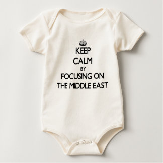 Keep Calm by focusing on The Middle East Baby Bodysuit