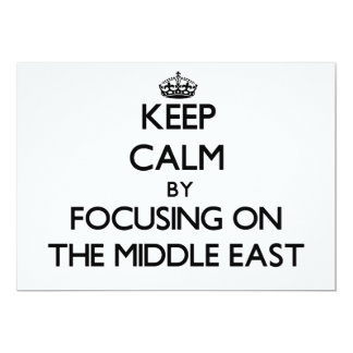 Keep Calm by focusing on The Middle East Announcements