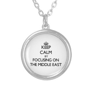 Keep Calm by focusing on The Middle East Round Pendant Necklace