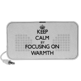 Keep Calm by focusing on Warmth Travelling Speaker