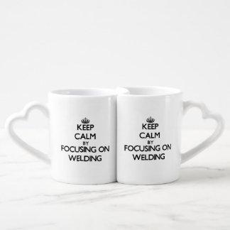 Keep calm by focusing on Welding Couple Mugs