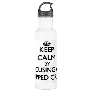 Keep Calm by focusing on Whipped Cream 24oz Water Bottle