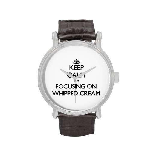 Keep Calm by focusing on Whipped Cream Wristwatch