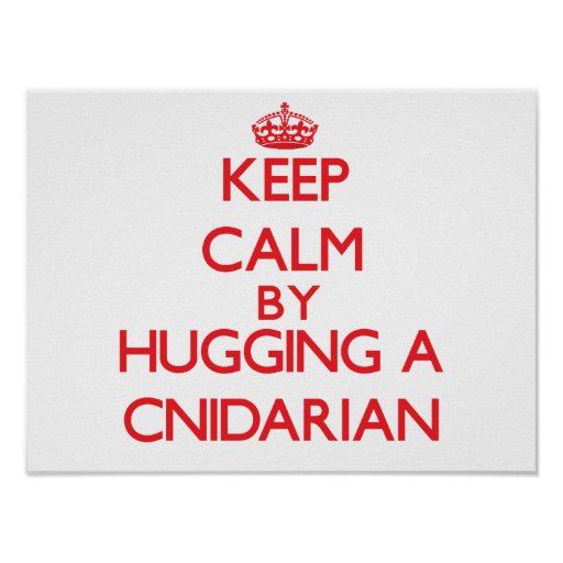 Keep calm by hugging a Cnidarian Posters