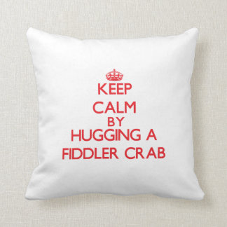 Keep calm by hugging a Fiddler Crab Throw Pillow